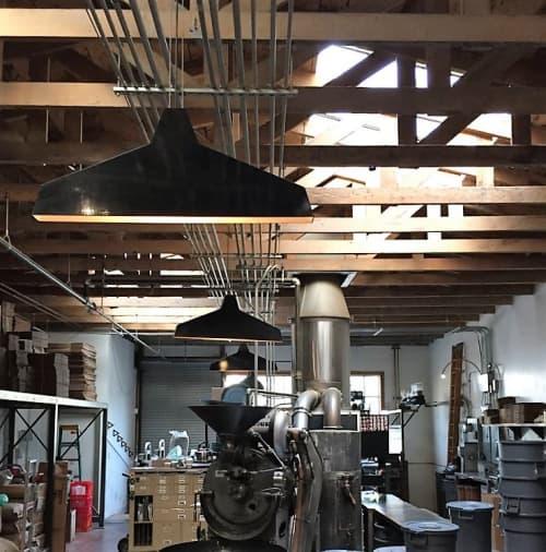 Pendants by Seth Quest seen at Four Barrel Coffee, San Francisco - Flat Light Pendant