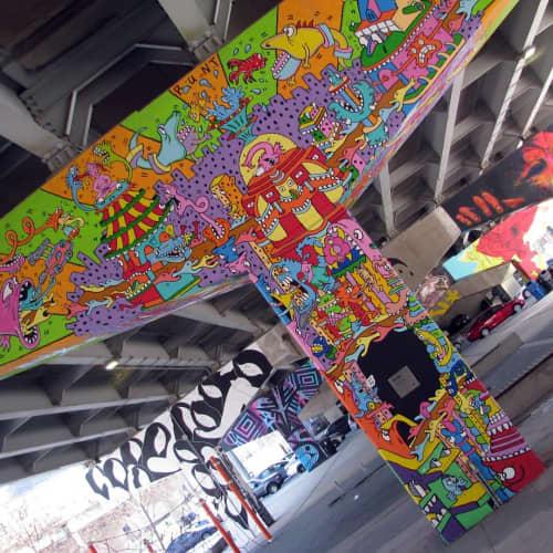 Graffiti   Street Murals by AL Runt   Underpass Park in Toronto