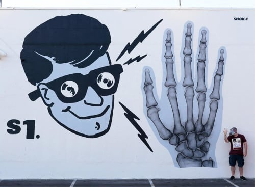 Amazing X-ray Vision! | Street Murals by SHOK-1 | The Container Yard in Los Angeles