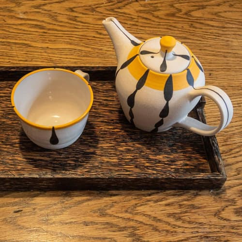 Black and White Teapot   Tableware by Kyra Mihailovic Ceramics