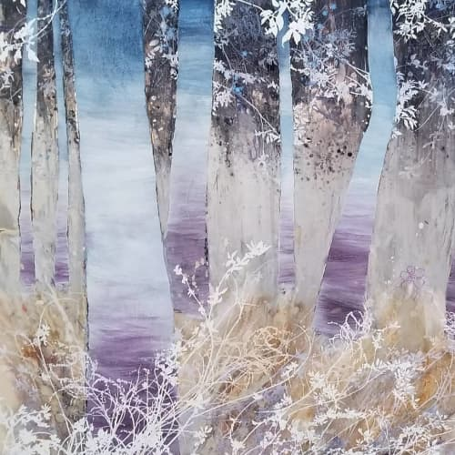 Contemporary Tree Painting | Paintings by Cara Enteles Studio | Industry City in Brooklyn