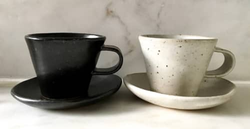 Espresso Cup and Saucer | Cups by Len Carella | Octavia in San Francisco