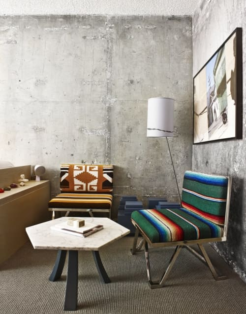Serape-Upholstered Chairs | Chairs by Knibb Design by Sean Knibb | The LINE LA in Los Angeles