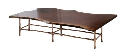 Live Edge Dining Table American/Black Walnut   Tables by fab&made