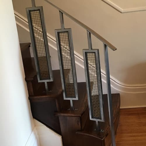 Hardware by Fallout Custom Furniture seen at Private Residence, Stratford - Stair Rail