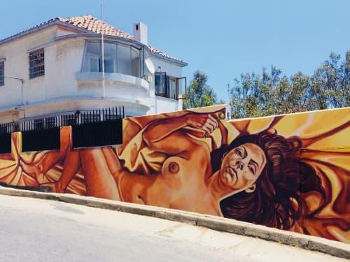 Autoexpiación | Street Murals by JP | Plaza Bismarck in Valparaíso