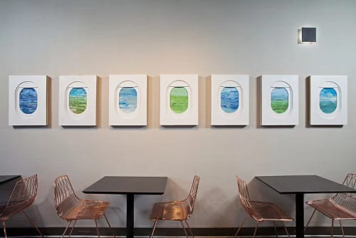 Art & Wall Decor by Jim Darling at H Hotel Los Angeles, Curio Collection by Hilton, Los Angeles - Plane Windows