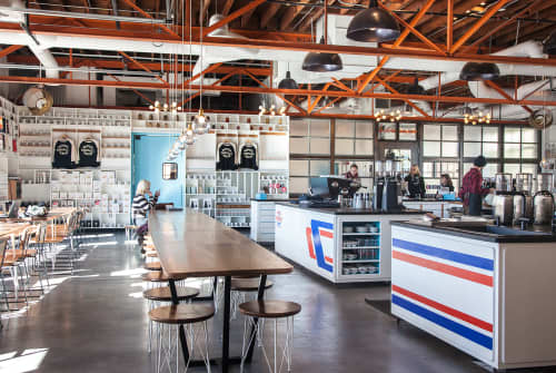 Tables and Stools | Tables by Holler Design | Barista Parlor Golden Sound in Nashville