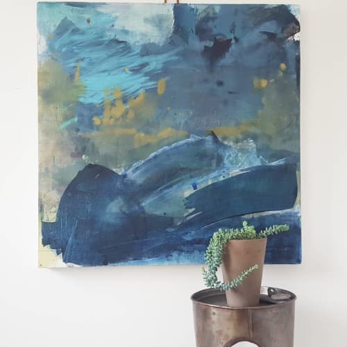 Paintings by Anne Abueva Studio - All the Blues
