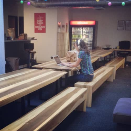 Sun Tanned Poplar Conference Tables | Tables by Monkwood | Zero Cater in South San Francisco