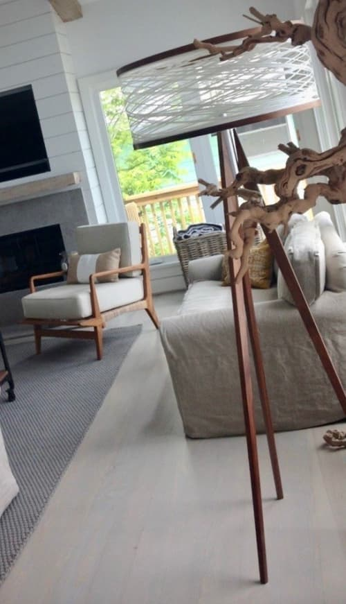 Lamps by Papay Designs seen at Private Home, Galveston - Sinuous Floor Lamp