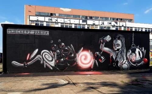 Painted Mural in Aerosol Arena | Street Murals by Fabifa | Aerosol-Arena in Magdeburg