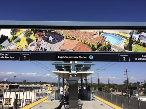 Right Above The Right-Of-Way   Art & Wall Decor by Susan Logoreci   Expo / Sepulveda Station in Los Angeles