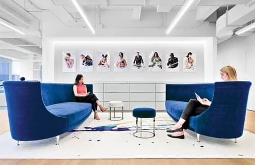 Couches & Sofas by Massimo Iosa Ghini of Iosa Ghini Associati seen at Swarovski NY, New York - Blue Sofas
