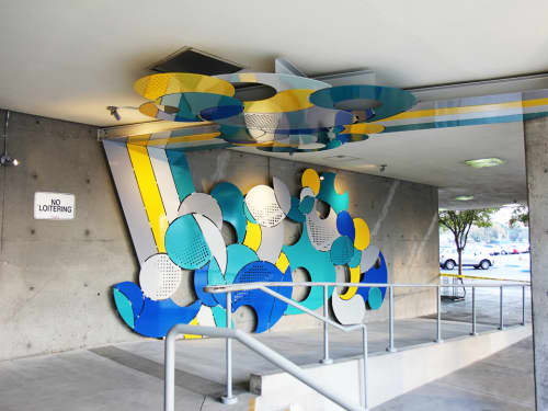 Sculptures by Elena Manferdini seen at Hubert Humphrey Comprehensive Health Center, Los Angeles - Nembi