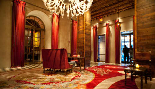 Wall Hangings by Julian Schnabel at Gramercy Park Hotel, New York - Curtain rods