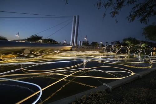 GOLDEN WATERS | Sculptures by Grimanesa Amorós | Soleri Bridge in Scottsdale