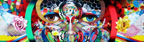 Murals by Chor Boogie seen at Rhode Island Avenue Shopping Center, Washington - The Eyes of Washington DC