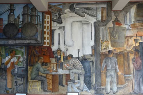 Murals by Ralph W. Stackpole at Coit Tower, San Francisco - Industries of California
