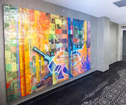 Mayfair Art | Murals by RISK | The Mayfair Hotel in Los Angeles