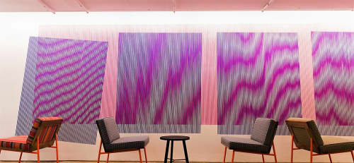 Paintings by Johnny Abrahams seen at Facebook, New York, Astor Place, New York - Moire Painting