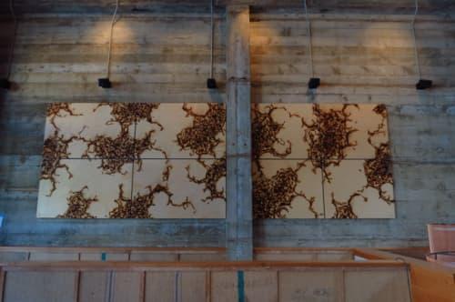 Paintings by John Bisbee seen at Comal, Berkeley - Steel Spikes Artwork