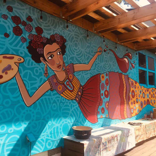 Murals by Véro The Traveling Artist seen at Private Residence, Homewood - Frida Kahlo Mural