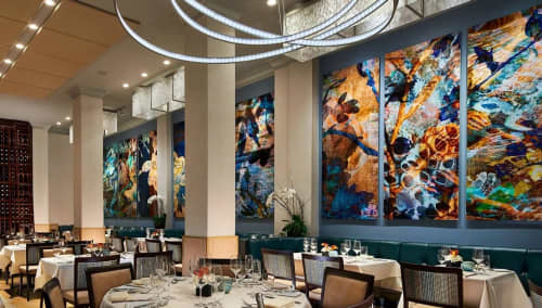 Paintings by Dana Montlack at NINE-TEN Restaurant & Bar, San Diego - Wall Art
