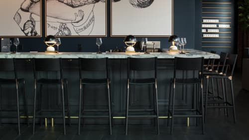 Stanyan Bar Stools | Chairs by Fyrn | Brown Downtown Napa in Saint Helena