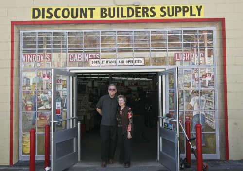 Murals by Jennifer Ewing seen at Discount Builders Supply & Hardware, San Francisco - Faux Doorway for Hardware Store