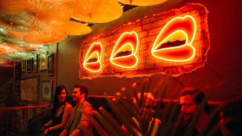 Signage by Electric Confetti at Talk To Me, South Yarra - Custom Neon Sign