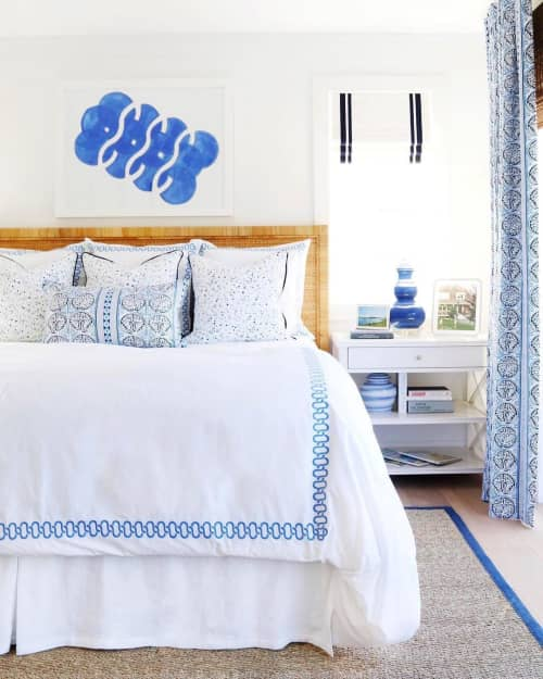 Paintings by Katie Brennan seen at Private Residence, San Diego - Blue and White