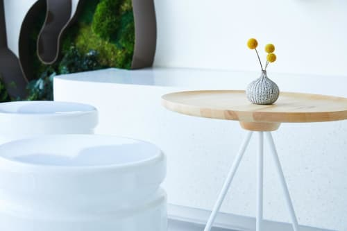 Tables by GamFratesi of Hem seen at Coffee for Sasquatch, Los Angeles - Key Side Table