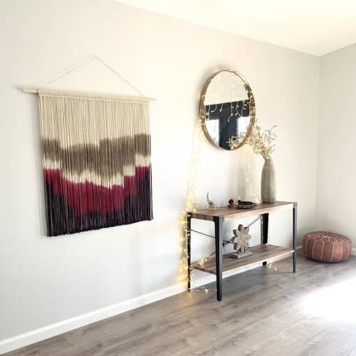 Macrame Wall Hanging by Love & Fiber seen at Private Residence, San Diego - Extra Large Hand Dyed Modern Macrame Wall Hanging