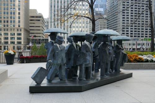 Sculptures by Ju Ming at The Langham Chicago, Chicago - Gentlemen