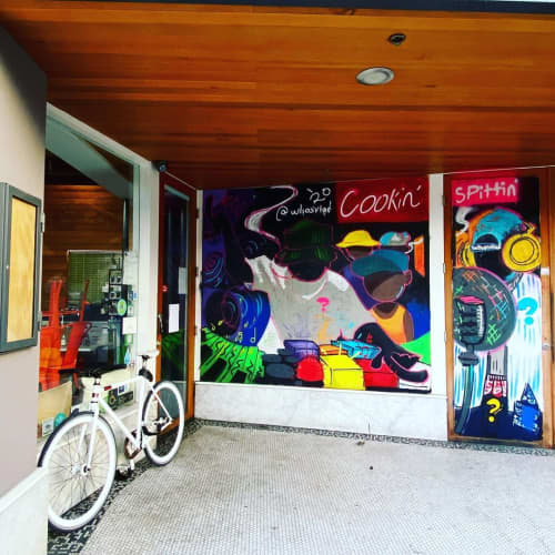 Cookin' Mural | Murals by WHOSVLAD | Fingerprints Music in Long Beach