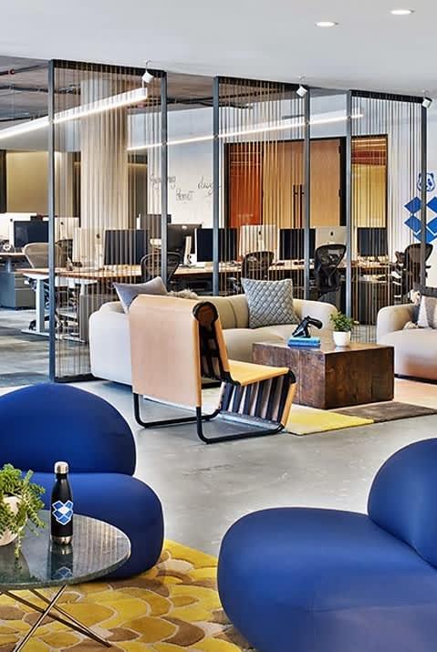 Chairs by Louise Mann seen at Dropbox Headquarters SF, San Francisco - Custom Tan Chair