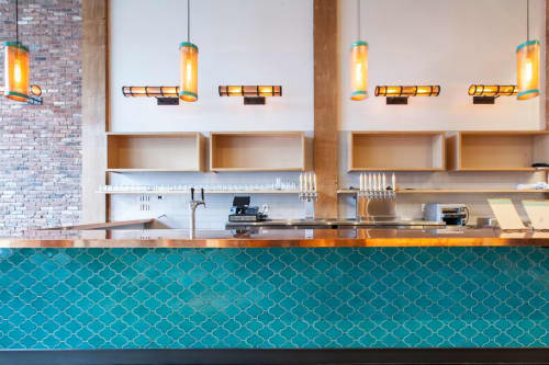 Turquoise Moroccan Tiles   Tiles by Fireclay Tile   Soma Eats in San Francisco