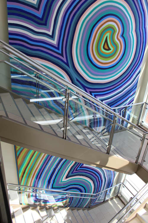 Coastal Strata   Murals by Clint Fulkerson   Maine Maritime Academy in Castine