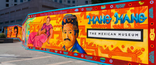 Mexican Museum Barricade Mural | Murals by Fred Alvarado | The Mexican Museum in San Francisco