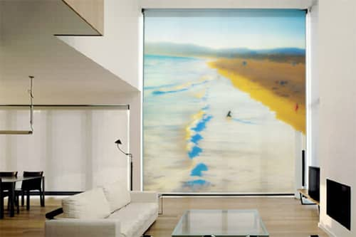Art & Wall Decor by Artist Cheryl Maeder seen at Private Residence, Los Angeles, CA, Los Angeles - Haiku Shi Roller Blinds