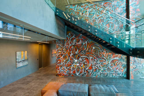 Abstract Mural | Murals by Alexander Mijares | EAST, Miami in Miami