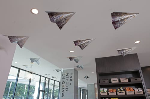 Sculptures by Patti Ortiz at H Hotel Los Angeles, Curio Collection by Hilton, Los Angeles - Planes