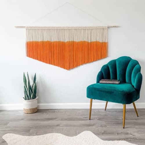 Macrame Wall Hanging by Love & Fiber seen at Creator's Studio, San Diego - Bright Orange Macrame Wall Hanging