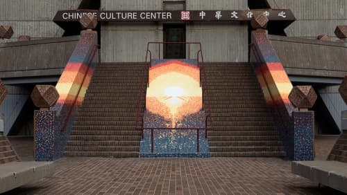 Sunrise Mosaic   Public Mosaics by Mik Gaspay   Chinese Culture Center of San Francisco in San Francisco