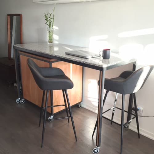 Furniture by Caveman Build & Supply Co. - Custom Rolling Island and Cabinet