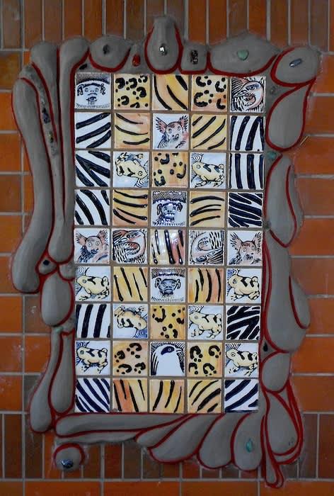 endangered Species tiles   Public Mosaics by Paul Santoleri