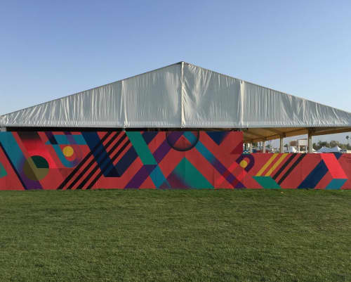 Mural | Murals by Teddy Kelly | Empire Polo Club in Indio