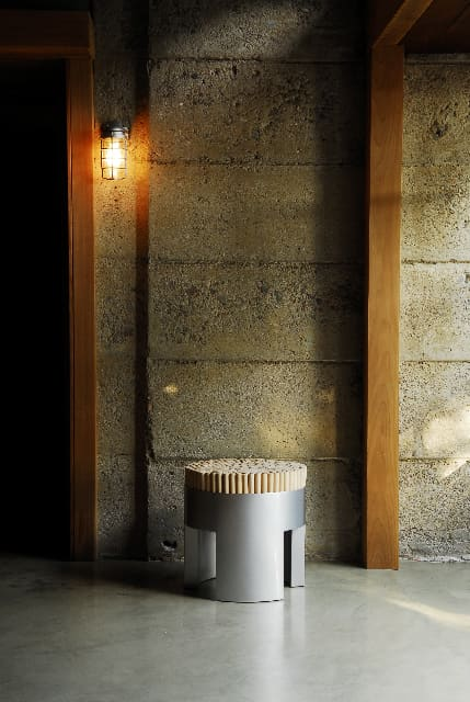 Chairs by Kenneth Cobonpue seen at Schindler Beach House, La Jolla CA, San Diego - Chiquita Stool