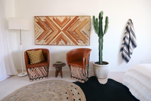 Wall Hangings by Aleksandra Zee seen at The Joshua Tree Casita, Joshua Tree - Geometric Wood Artwork